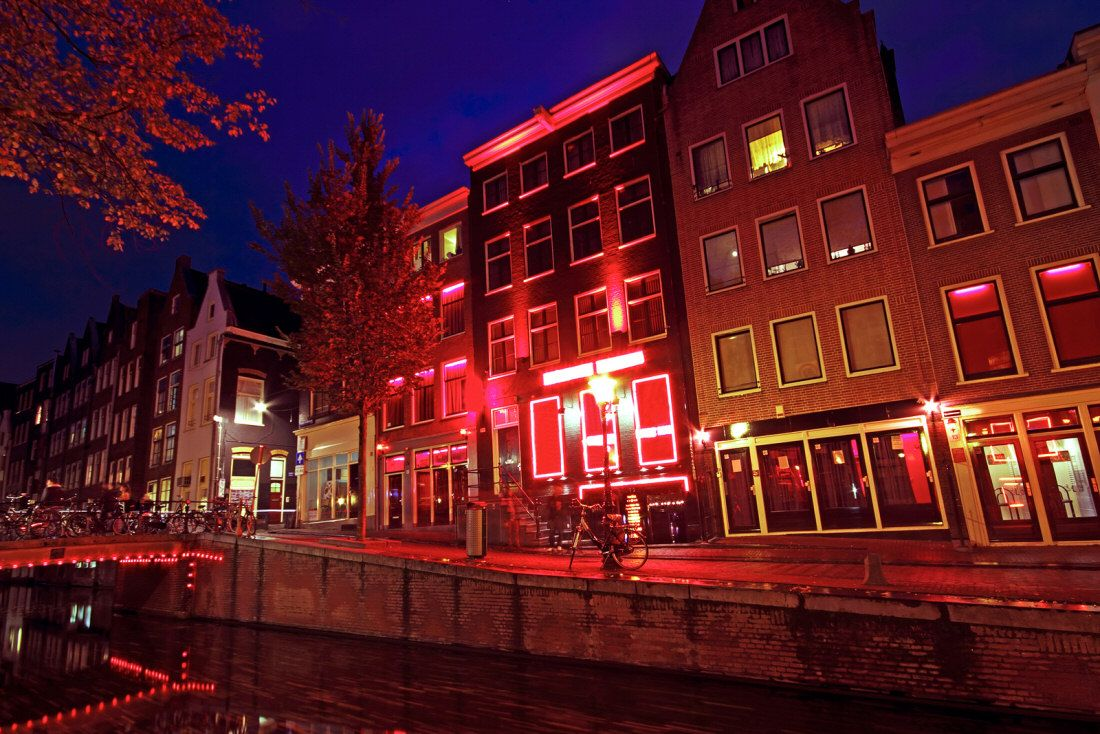 Улица красных фонарей на карте амстердама 15 фотография