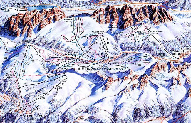 Горнолыжные курорты Италии: Доломити-ди-Брента